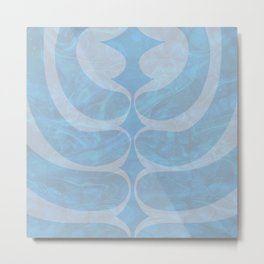 Fossly Blue  Metal Print