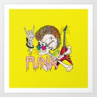 punk Art Prints featuring Punk by dogooder