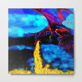 DRAGON BREATH FIRE BATH Metal Print