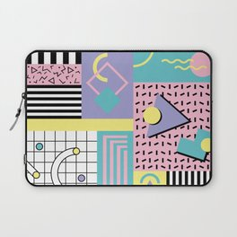 Memphis Pattern 27 - 80s - 90s Retro / 1st year anniversary design Laptop Sleeve