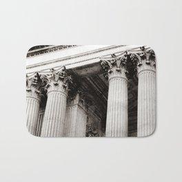 Corinthian Columns Black and White Photo by Larry Simpson Bath Mat