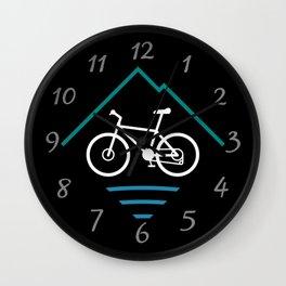 Trail Bike Cycling Logo Wall Clock