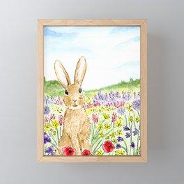 Bunny in the Meadow Framed Mini Art Print