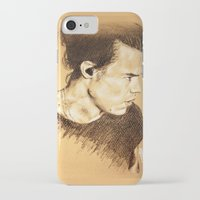 harry styles iPhone & iPod Cases featuring Harry Styles by Drawpassionn