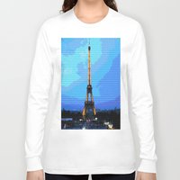 eiffel Long Sleeve T-shirts featuring Eiffel by osile ignacio
