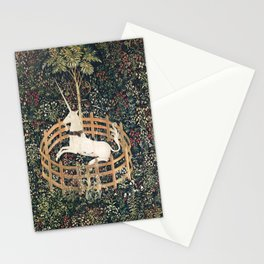 The Unicorn in Captivity (from the Unicorn Tapestries) Stationery Cards