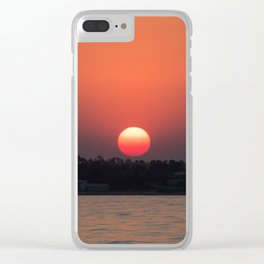 Really red sun Clear iPhone Case