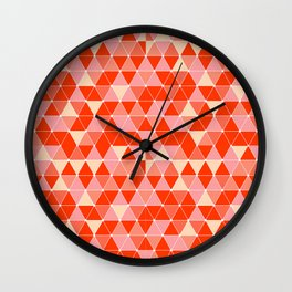 Prism - Coral Wall Clock