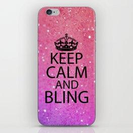 Keep Calm & Bling iPhone Skin