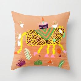 Wild Party - Leopard Throw Pillow