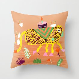 Wild Party - Leopard Throw Pillow