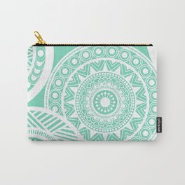 Mandala Marimekko Style Aqua  Carry-All Pouch