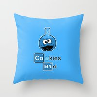 cooking Throw Pillows featuring Cooking Bad by Loku