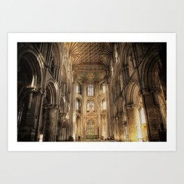 Peterborough Cathedral  Art Print