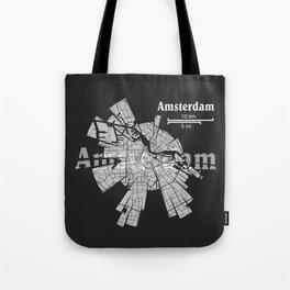 Amsterdam Map Tote Bag
