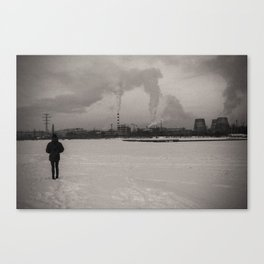 Ural urban winter Canvas Print