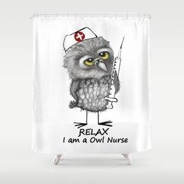 Owl Nurse Shower Curtain
