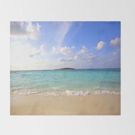 Maldives Beach Throw Blanket