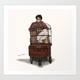 Off to Hogwarts Art Print