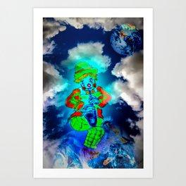 Funny World - Clown Art Print