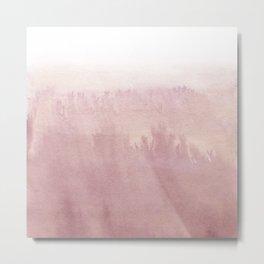 Modern creative blush pink watercolor ombre Metal Print