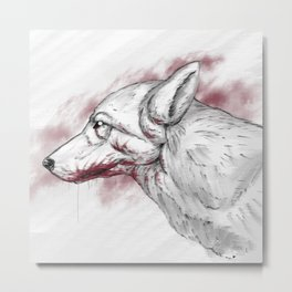 Wolf II Metal Print