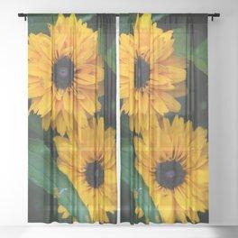 Susan's Flowers Sheer Curtain
