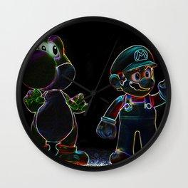 Luigi, Yoschi and Mario Wall Clock