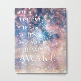 Dreams - Henry David Thoreau Quote Metal Print