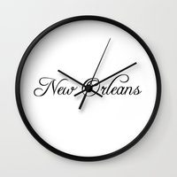 new orleans Wall Clocks featuring New Orleans by Blocks & Boroughs