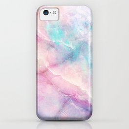 Iridescent marble iPhone Case