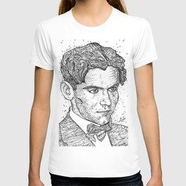FEDERICO GARCIA LORCA ink portrait T-shirt