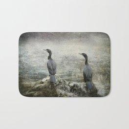 Two Cormorants Bath Mat