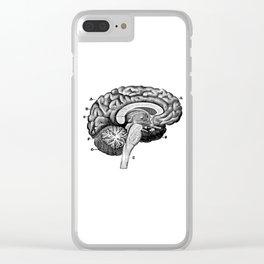 Brain 2 Clear iPhone Case