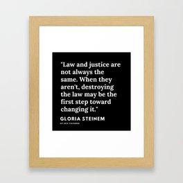 51   | Gloria Steinem Quotes | 191202 Framed Art Print