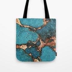 AQUA & GOLD GEMSTONE Tote Bag