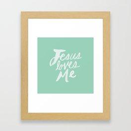 Jesus Loves Me x Mint Framed Art Print