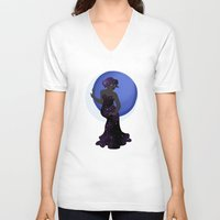 celestial V-neck T-shirts featuring Celestial by Spacekase