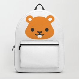 Chipmunk Face Emoji Backpack