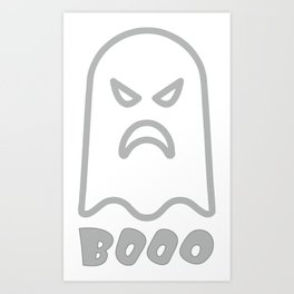 Boo Ghost Art Print