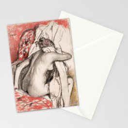 Edgar Degas - After the Bath- Seated Woman Stationery Cards