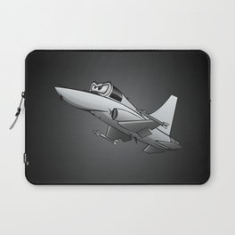 Twinjet Supersonic Aircraft Cartoon Laptop Sleeve