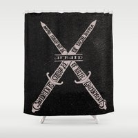 vendetta Shower Curtains featuring V for Vendetta by Drew Wallace