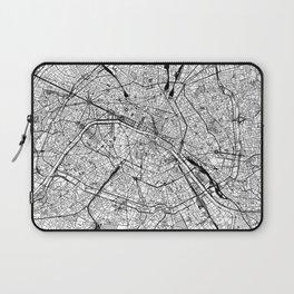 Paris White Map Laptop Sleeve