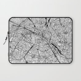Paris White Map Laptop Sleeve
