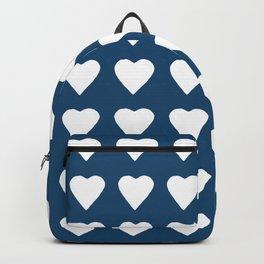 64 Hearts Navy Backpack