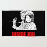 jfk Area & Throw Rugs featuring JFK Assassination: Inside Job! by InvaderDig