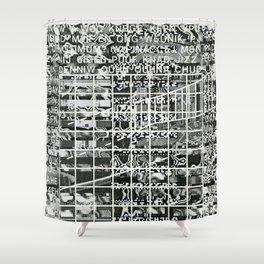 A Symbol of Belonging (P/D3 Glitch Collage Studies) Shower Curtain