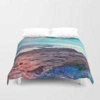salt water Duvet Covers featuring Salt Water by Viviana Gonzalez