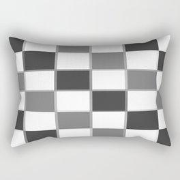 Slate & Gray Checkers / Checkerboard Rectangular Pillow
